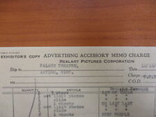 Movie Letterhead Advertising Accessory memo Charge Law of Yukon 12/16/1920