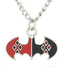 Batman Jewelry Harley Quinn Red Black Pendant Bioworld Licensed