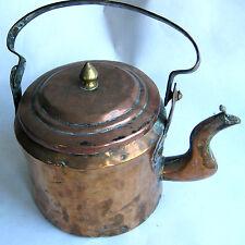ANCIENNE THEIERE EN CUIVRE XIXème OLD COPPER TEAPOT Teekanne in Kupfer Tetera de