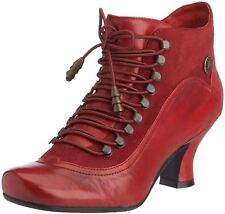 Hush Puppies Vivianna Red Leather Womens Ankle Boots