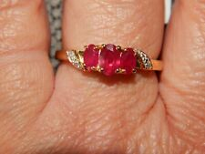 AFRICAN RUBY RING-SIZE R-1.250CTS-WITH 14K GOLD