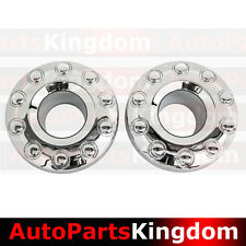 "05-17 Ford Super Duty 19"" DUALLY Chrome 10 Lug Front Wheel Center Hub Cap 1 PAIR"
