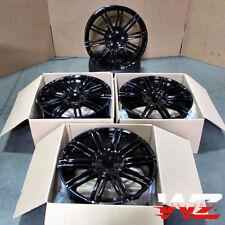"""21"""" Wheels For Porsche Cayenne S GTS Touareg Audi Q7 Gloss Black 5x130 Rims Set"""