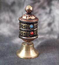 Mini-Gebetsmühle stehend ~ Mantra ~ Original aus Nepal (1435)