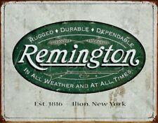 Remington Metal Ad Sign Logo Gun Hunting Rifle Shotgun Ammo Rustic Picture Gift