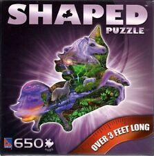 Unicorn Shaped Jigsaw Puzzle Fantasy Steve Sundram 650 pc New Sealed Box