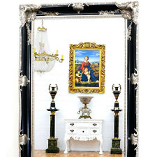 rechteckige schwarze antike spiegel g nstig kaufen ebay. Black Bedroom Furniture Sets. Home Design Ideas