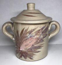 Rare Boite Confiturier Irisé Signé La Roue Vallauris Vintage H13,5 L 15 l 11 Cm