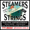 STEAMERS  CUSTOM ROCK GAUGE ELECTRIC STRINGS, MADE in USA, NEW, FREE POSTAGE
