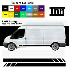 Side Stripe Stickers Decals Vinyl Graphics For Ford Transit LWB SWB MWB Van