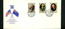 Postal History Cook Islands FDC #C20-C22 Americans FDR Washington Roosevelt 1982