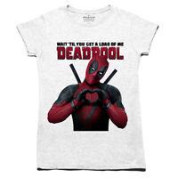 Womens Ladies Deadpool Movie T Shirt Marvel DC Comics Batman Suicide Squad Quinn