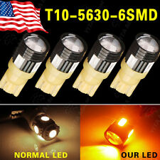 4X Amber/Yellow T10 Wedge High power 3W 5630 Projector LED Light 921 194