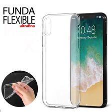 FUNDA ULTRAFINA IPHONE XS SILICONA RESISTENTE Y FLEXIBLE CARCASA TRANSPARENTE