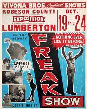 """18x24""""Decoration CANVAS.Interior room design.Vintage freak show.Circus.6627"""