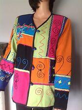 Indigo Moon Jacket India Women M Patchwork Designer Fashion Spring  Summer Boho