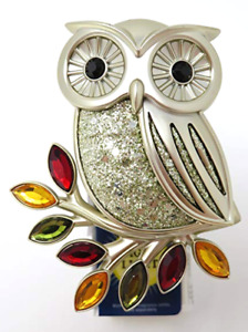 BATH & BODY WORKS SPARKLING OWL GLITTER LEAF NIGHTLIGHT WALLFLOWER PLUG IN UNIT