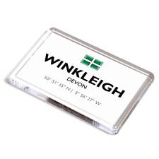 FRIDGE MAGNET - Winkleigh, Devon - Lat/Long SS6308