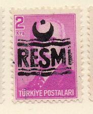 Turkey 1955-56 Early Issue Fine Used 2k. Resmi Optd 086216