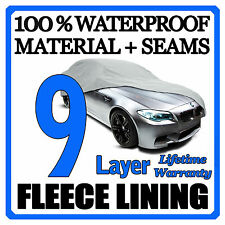 9 Layer Car Cover Breathable Waterproof Layers Outdoor Indoor Fleece Lining Fib1