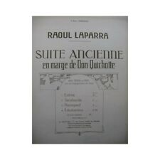 LAPARRA Raoul Juego Antigüo Zarabanda Piano Alto u Violín 1921 partitura sheet