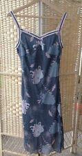 Cote Femme Beautiful Grey Pink Long Floral Dress Size 10 La Redoute BNWOT Lined
