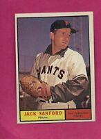 1961 TOPPS # 258 GIANTS JACK SANFORD  EX-MT CARD (INV# A2355)