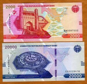 SET Uzbekistan, 2000-20000 Sum, 2021, P-New, UNC