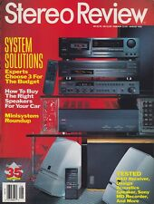 Stereo Review Magazin Aug 1993 nad 705, Celestion Trinity 3, Sony mds-101, da900
