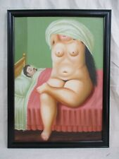 NICE OIL ON CANVAS FERNANDO BOTERO 1991 WITH FRAME IN GOOD CONDITION