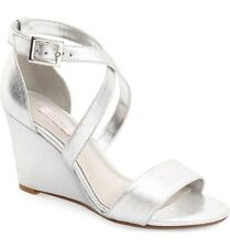 NEW Sz. 6 M Glint Mallory Wedge Sandals in Silver Shoes Wedding Sandals