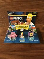 LEGO Dimensions Homer Simpson 71202 Level Pack Mini Figure BOX WEAR PLEASE READ