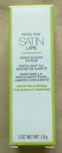 Mary Kay Satin Lips Shea Sugar Scrub White Tea & Citrus  New in Box 094712