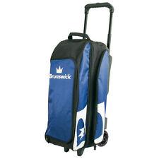 Brunswick Blitz 3 Ball Bowling Roller Bag Color Blue
