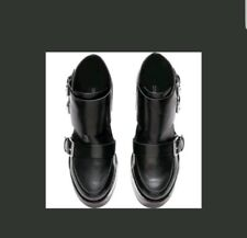 H&M Black Cleated Low Ankle Boots Size 5