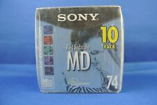 Sony 10Mdw74Cl Color Collection Mini Disc 74 Minute 10 Pack New