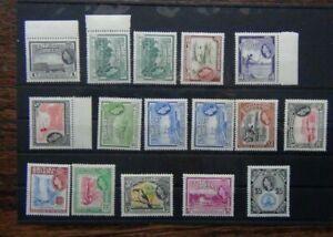 British Guiana 1954 - 63 values to $5 (ex 24c) MM