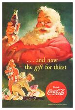 Coca Cola Santa Claus - Vintage 1952 Christmas Poster