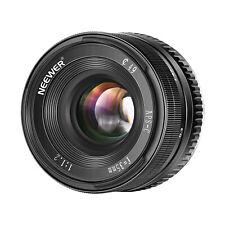 Neewer 35mm F1,2 Enfoque Manual Fijo Compatible con Sony A6500 A6300 A6100 A6000