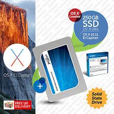 Macbook Pro, Mac mini :: 250GB 2.5 inch:: SSD (Solid State Drive) OS X Loaded