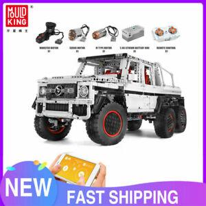 Mould King 13061 Technic Car APP Motorized G700 6x6 SUV Truck MOC Building Block