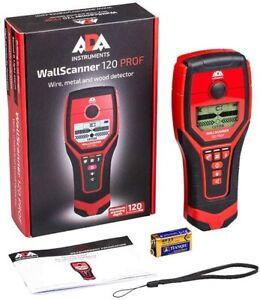 ADA Ortungsgerät Wall Scanner 120 Prof (detektiert Holz/Eisenmetalle/Nichteisen)