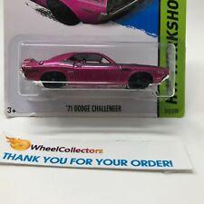 Bad Card * '71 Dodge Challenger #242 * Purple * 2014 Hot Wheels * HA40