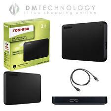 HARD DISK ESTERNO 2,5 USB 3.0 500GB-1-2-3TB TOSHIBA CANVIOB MOD2018 NERO/CUSTODI