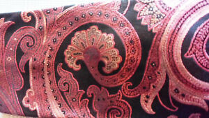 100% SIlk navy and Pinks Paisley by Ike Behar NWOT