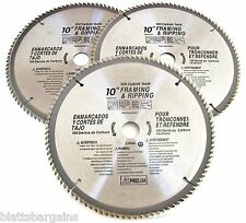 "3 ATE PRO 10"" CIRCULAR TABLE MITER SAW BLADES 100T 100 TOOTH CARBIDE TIP 33085"