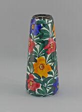 99845555 Keramik Vase Schramberg SMF handgemaltes Blumen Dekor