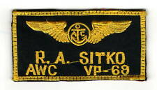 """New listing Usn Naval Aviator Name Patch In Good Used Condition 2""""x4"""" With Volcrow Backing.,"""
