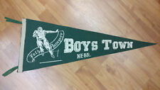 Vintage Father Flanagan's Boys Town Nebraska Football Pennant