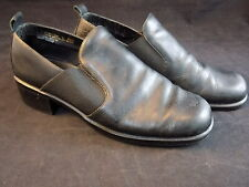 BLACK LEATHER MARY JANE Style Ladies Shoes Size 6 1/2 M